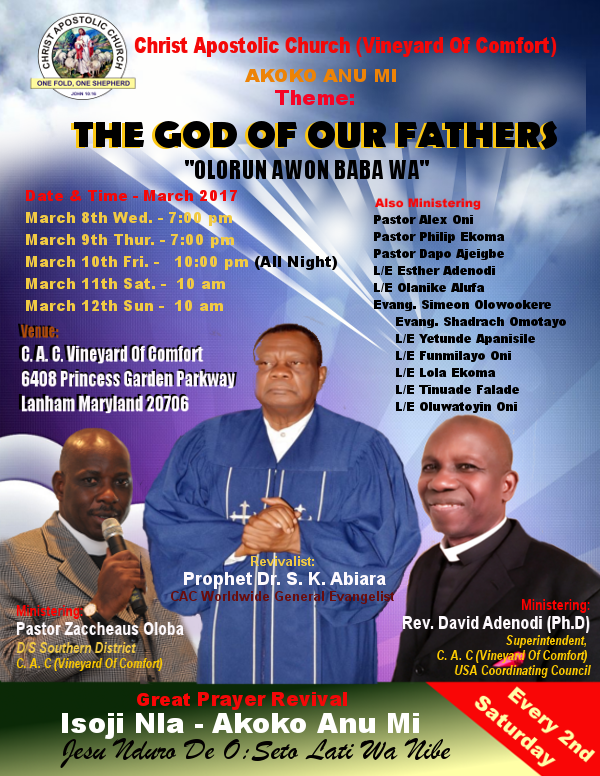 Special Events | Chirst Apostolic Church Vineyard Of Comfort